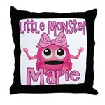 Little Monster Marie Throw Pillow