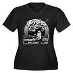 Toyota Women's Plus Size V-Neck Dark T-Shirt