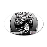 Mazda 38.5 x 24.5 Oval Wall Peel