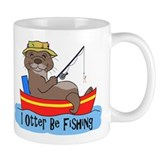 I Otter Be Fishing Small Mug
