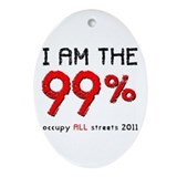 I am the 99% Ornament (Oval)