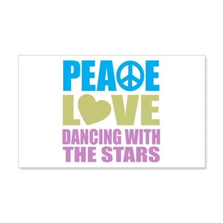 Peace Love Dancing With The Stars 22x14 Wall Peel