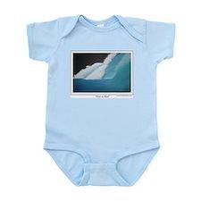 Wave on Black Infant Bodysuit