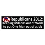 Republicans kick millions out bumper sticker