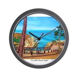 La Jolla Beach Path Wall Clock