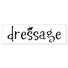 dressage Bumper Bumper Sticker