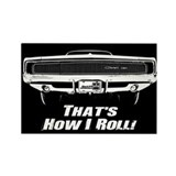 How I Roll - Charger Rectangle Magnet