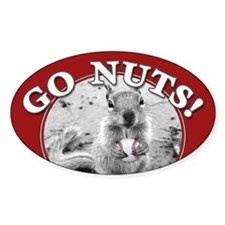 GO NUTS oval Rally Squirrel Decal