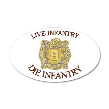 4th Bn 9th Infantry 22x14 Oval Wall Peel