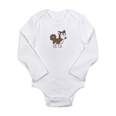 Cute Husky Long Sleeve Infant Bodysuit