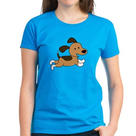 Cute Puppy Women's Dark T-Shirt