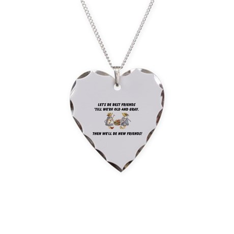 Old New Friends Necklace Heart Charm