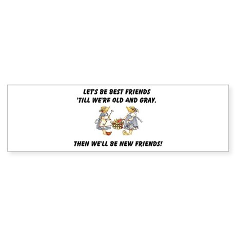 Old New Friends Sticker (Bumper)