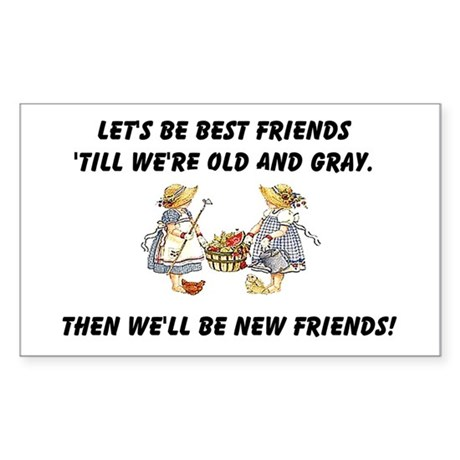 Old New Friends Sticker (Rectangle)