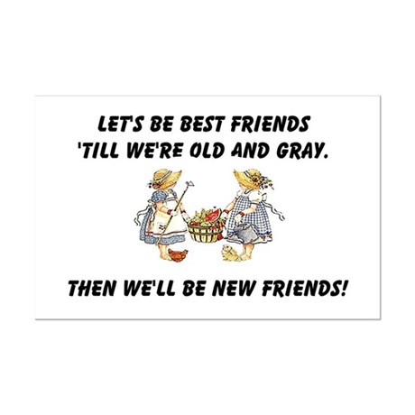 Old New Friends Mini Poster Print
