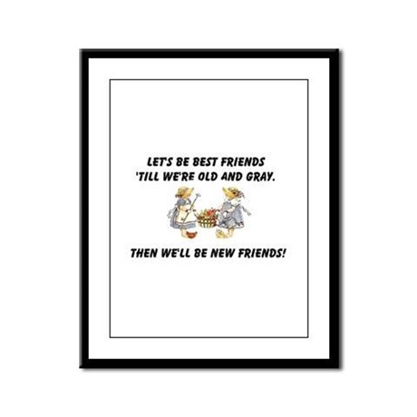 Old New Friends Framed Panel Print