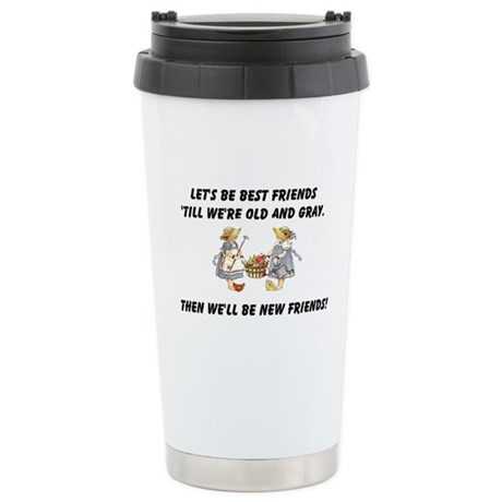 Old New Friends Ceramic Travel Mug