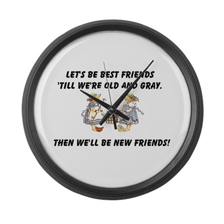 Old New Friends Large Wall Clock