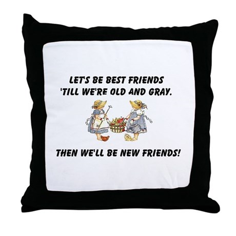 Old New Friends Throw Pillow