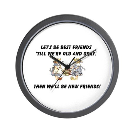 Old New Friends Wall Clock