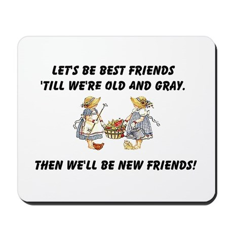 Old New Friends Mousepad