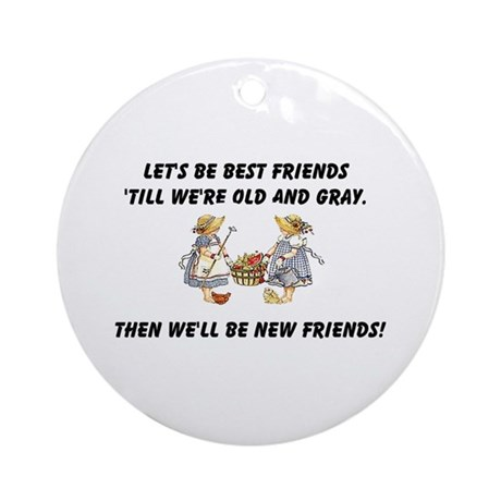 Old New Friends Ornament (Round)