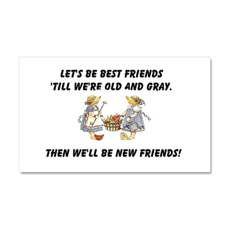 Old New Friends Car Magnet 20 x 12