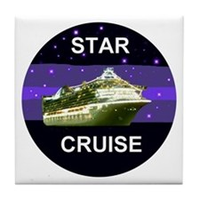 Star Princess Cruise Tile Coaster