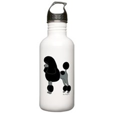 Black Poodle Water Bottle