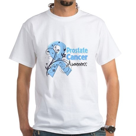 Prostate Cancer Awareness White T-Shirt