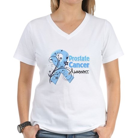 Prostate Cancer Awareness Women's V-Neck T-Shirt
