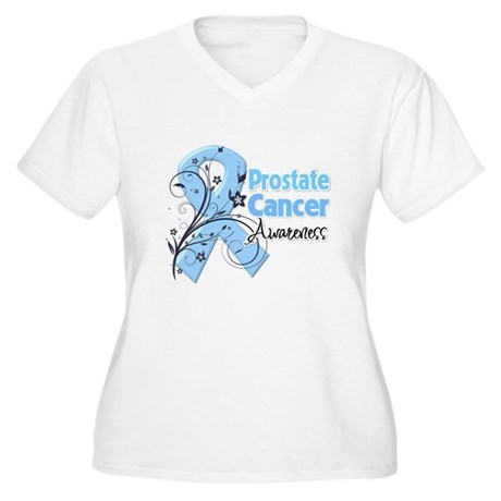 Prostate Cancer Awareness Women's Plus Size V-Neck