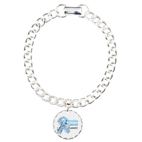 Prostate Cancer Awareness Charm Bracelet, One Char