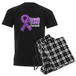 Pancreatic Cancer Awareness Men's Dark Pajamas