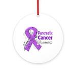 Pancreatic Cancer Awareness Ornament (Round)