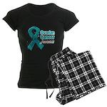 Ovarian Cancer Awareness Women's Dark Pajamas