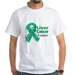 Liver Cancer Awareness White T-Shirt