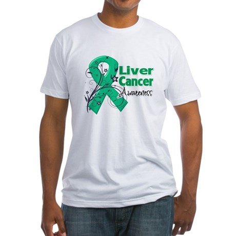Liver Cancer Awareness Fitted T-Shirt