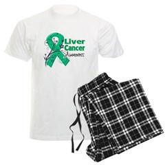Liver Cancer Awareness Men's Light Pajamas