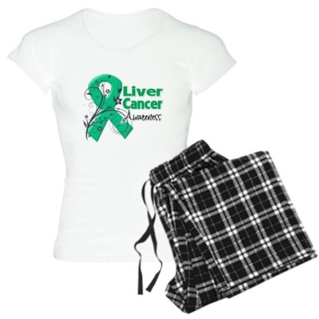 Liver Cancer Awareness Women's Light Pajamas