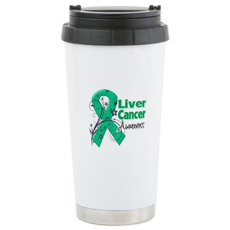 Liver Cancer Awareness Ceramic Travel Mug