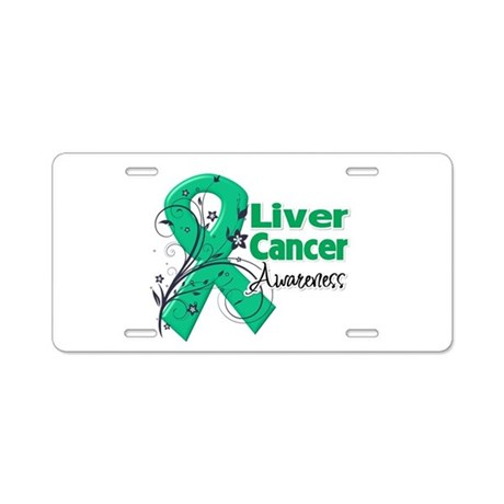Liver Cancer Awareness Aluminum License Plate