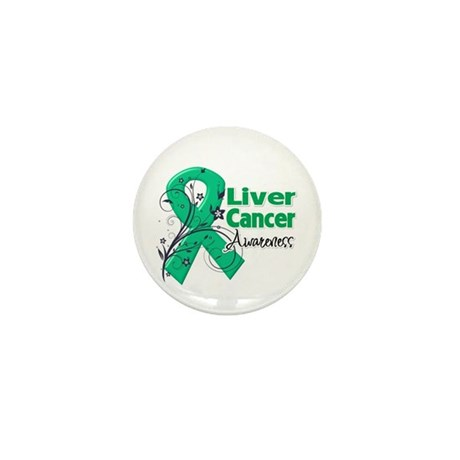Liver Cancer Awareness Mini Button