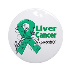Liver Cancer Awareness Ornament (Round)