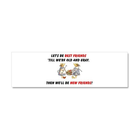 Old New Garden Friends Car Magnet 10 x 3