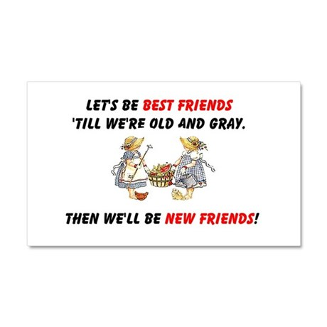 Old New Garden Friends Car Magnet 20 x 12