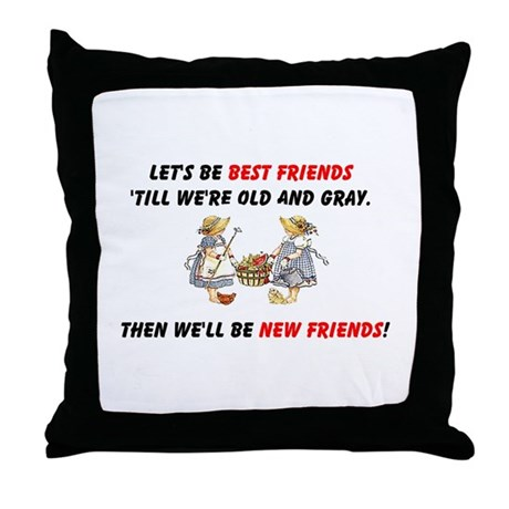 Old New Garden Friends Throw Pillow