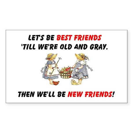 Old New Garden Friends Sticker (Rectangle 50 pk)