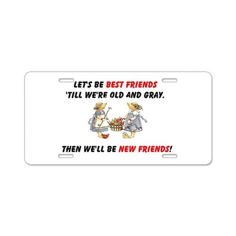 Old New Garden Friends Aluminum License Plate