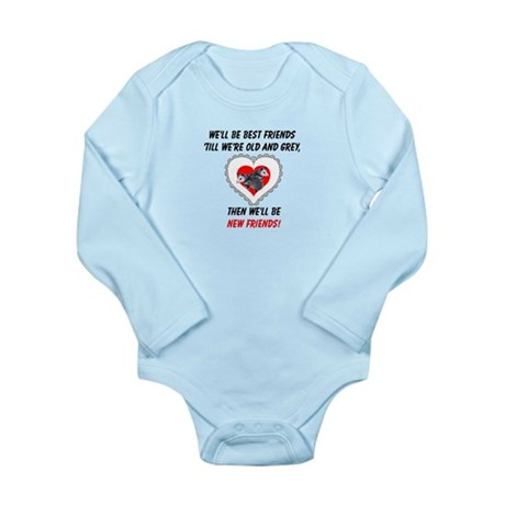Old New Possum Friends Long Sleeve Infant Bodysuit